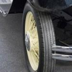 Classic car wheel — Stock Photo