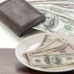 Dollars on white background — Stock Photo