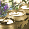 Stock Photo: Three cans of lager