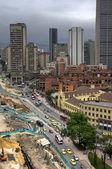 Bogota Colombia Carrera 7 construction — Stock Photo