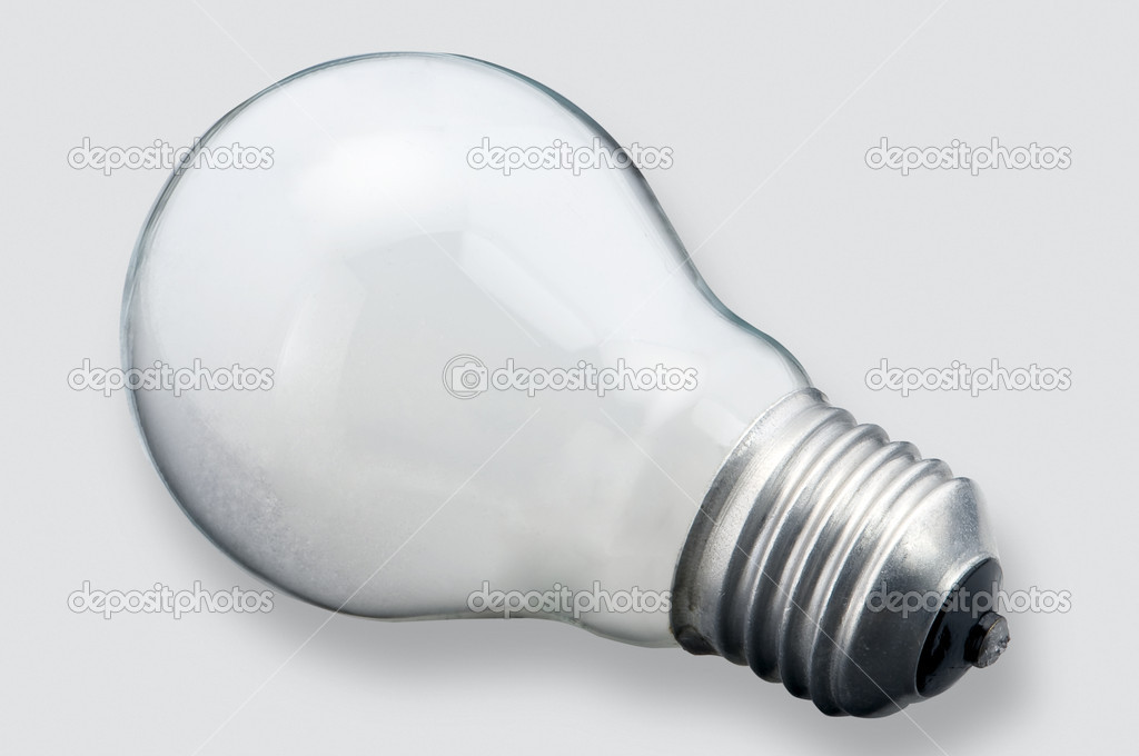 Isolated white bulb — Stock Photo #8362796