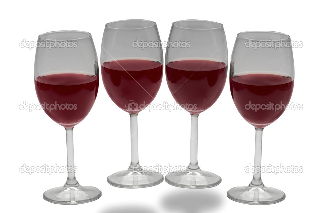 Two glasses of white wine isolated — Stock Photo #8364565