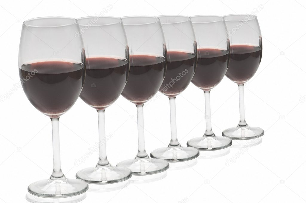 Glass cups red wine Alcohol — Stock Photo #8365548