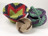Handmade woven basket — Stock Photo