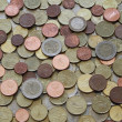 Used Euro Coins — Stock Photo