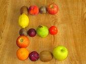 Fruitige e — Stockfoto