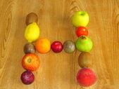 Fruity H — Stock Photo
