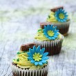 Flower cupcakes — Stock Photo