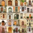 Wallpaper with vintage doors in Italy - Foto de Stock