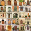 Wallpaper with vintage doors in Italy - Stockfoto