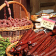 Sausages for sale on food market in Krakow, Poland, Europe — Stock Photo #10053854