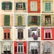 Collage with retro windows in Italy, Europe — Foto de Stock