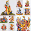 Stock Photo: Collage with hindu gods