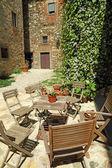 Sunny backyard — Stock Photo