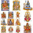 Stock Photo: Composition with hindu gods