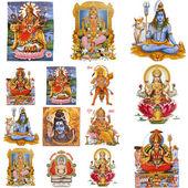 Sammansättning med hinduiska gudar — Stockfoto