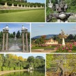 Collage with  images of Boboli Gardens in Florence — Stock Photo
