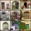 Country doors collage — Stock Photo
