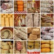 Italian delicatessen collage - Stock Photo