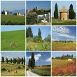Tuscan scenery collage — Stock Photo