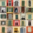 Collection of windows — Stock Photo