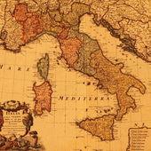 Antigo mapa de itália — Foto Stock
