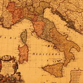 Antique map of Italy — Stock Photo