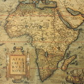 Antique map of Africa — Foto Stock