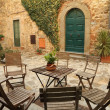 Italian backyard — Foto Stock