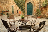 Italian backyard — Stock Photo