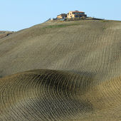 Tuscan farmland in Crete Senesi region — Stock Photo