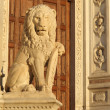 Antique marble lion statue — Stock Photo