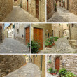 Collage with italian village — Stock Photo