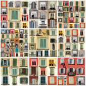 Collage with various windows — Stock Photo