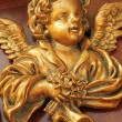 Antique golden angel figure — Stock Photo