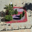 Flowerbed seen from up - Stock Photo