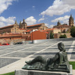 Square in spanish town Salamanca — Stock Photo