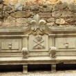 Ornamental antique bench - Stock Photo
