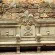 Stock Photo: Ornamental antique bench