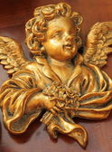 Antike golden engelsfigur — Stockfoto