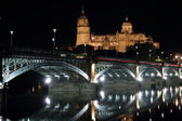Night view of Salamanca town — Stock Photo