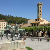 The Main square called Mino in etruscan town Fiesole — Stock Photo