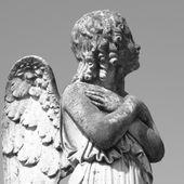 Antique cemetery angel figure — Stock Photo