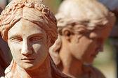 Pottery female face — Stock Photo
