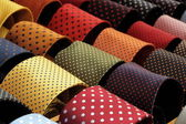 Dotted neckties collection — Stock Photo