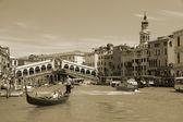VENICE - MAY 17: Gondola on Grand Canal on May 17, 2010 in Venice, Italy. — Stock Photo