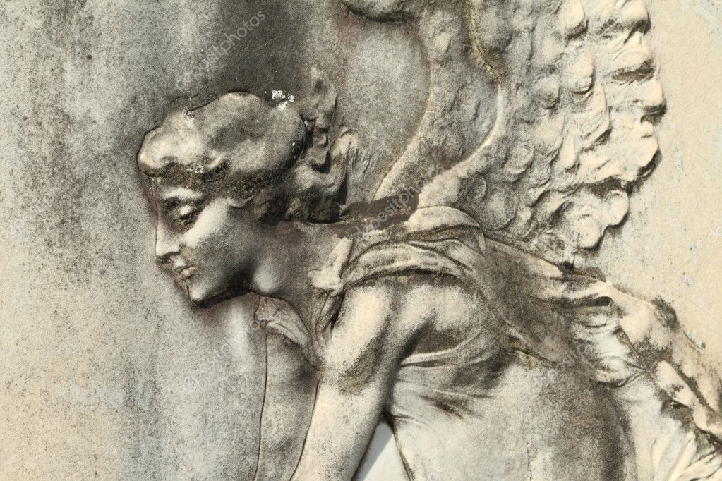 Detail of antique relief on tomb in Italy  — Stock Photo #8517142