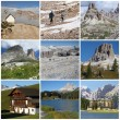 Collage with alpine landscape — Stock Photo #8623445