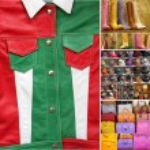 Italian fine leather accessories collection — Stock Photo