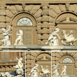 Cupids collage - figures from monumental fountain in Florence — Stock Photo
